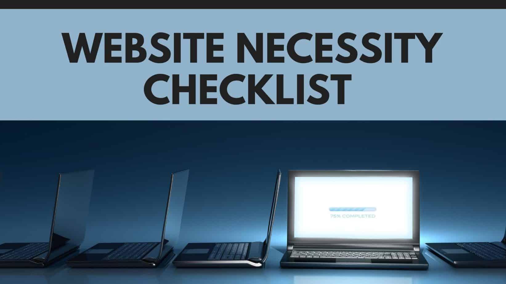 Website Necessity Checklist